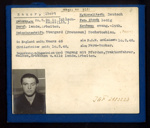 German Eden Camp P.O.W. record card - Albert Bauer - German - Dob 20/03/1924; 6568