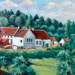 Framed oil painting - escaper's safe house - Gottechain - Brabant - Belgium; 29750