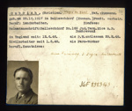German P.O.W. record card - Christian Umbrich - Rumanian - Dob 25/12/1917; 6636