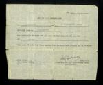 Entry pass for driver to enter Eden Camp - 1947. L. Robinson, Vine Street, Norton.; 21865