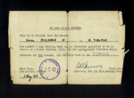 Driving permits - Helmut Mildner - German P.O.W. at Eden Camp, Dated 1st August 1947, Post War ; 29431