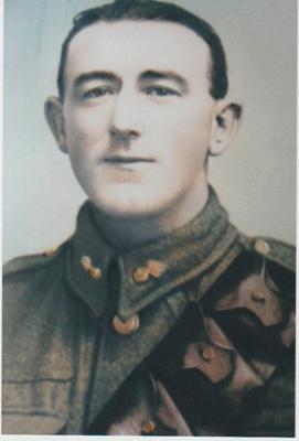 John Cecil Litten in his sergeant's uniform.; 1917; 2018.377.03