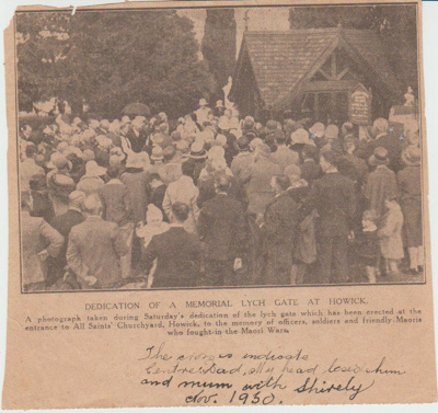 Dedication of the memorial Lych Gate; 1/11/1930; 2018.203.42