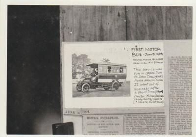 The first Howick Motor bus; La Roche, Alan; 1904; 2017.490.04