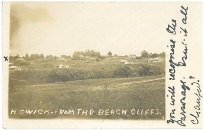 Howick from the beach cliffs.; c.1940; 2016.129.66