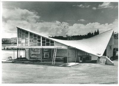 Hyperbolic peraboloid building; N.Z.Herald; 21.2.1959; 2016.420.16