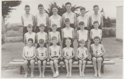 Howick District High School Steeplechase winners; Sloan Photo Service; 1950; 2019.072.07