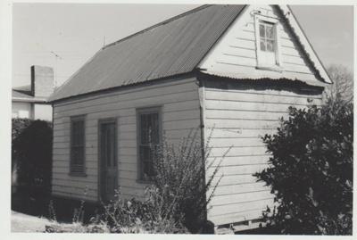 Smallman's cottage, Cook Street; La Roche, Alan; 1/08/1973; 2018.089.25