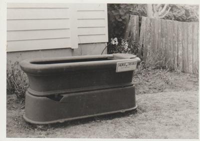 Horse trough in the Garden Of Memories.; 1971; 2019.090.01