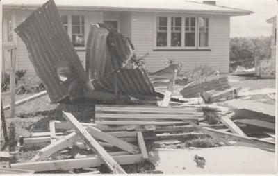Tornado damage Botany Road, 1959; Young, Heather; 1/12/1959; 2019.088.02
