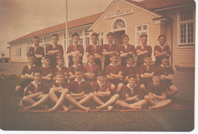 Howick District High School Rugby Football team.; Sefton, William John; 1948; 2019.072.12