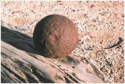A cannon ball found at Shelly Park; La Roche, Alan; 1/04/2011; 2017.215.32