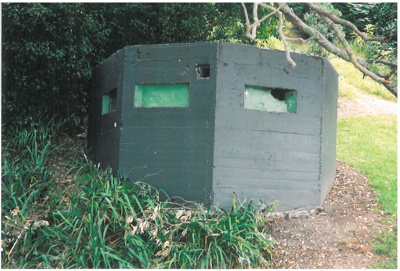 Gun emplacement at Cockle Bay; La Roche, Alan; 2005; 2017.218.37