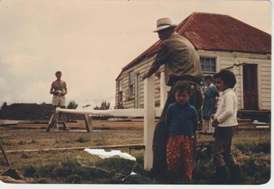 Working bee volunteers at Howick Historical Village.; 1980; 2019.129.19