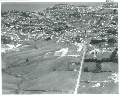 Howick, Aerial view 1951; Whites Aviation; c1955; 2016.108.0011c
