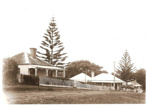Wagstaff's General Store and Honeymoon Cottage, Howe St, Howick. 1904.; 13301