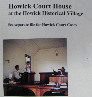 Boxed Collection Alan La Roche Research Notes Howick Court House; Alan La Roche; 1975-2010; 2012.56.1