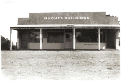 Hughes Buildings, Picton St, Howick, c.1920. Hudge...