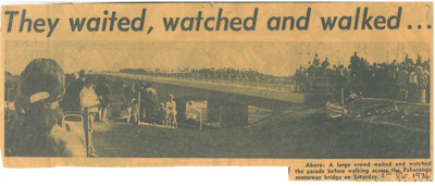 Pakuranga Motorway Bridge, 1974; N.Z.Herald; 1974; 2017.290.27