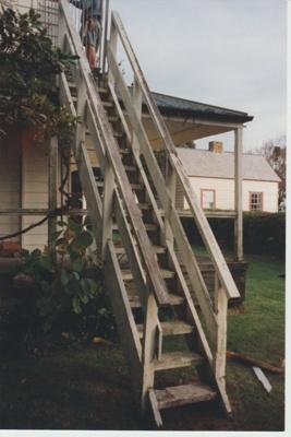 Bell House fire escape.; La Roche, Alan; 1998; 2018.068.82