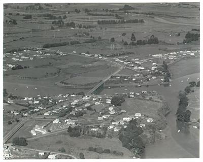 Aerial view of Pakuranga c.1960; Whites Aviation; 1962; 2016.494.95