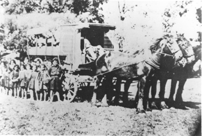 Horse Drawn School Bus; C. 1900; 9106