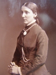 Carte de visite. Photograph of woman standing.; John Hawke; 1880's - 1890's; 2011.72.10