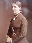 Carte de visite. Photograph of woman standing.; John Hawke; 1880's - 1890's; 2011.72.10