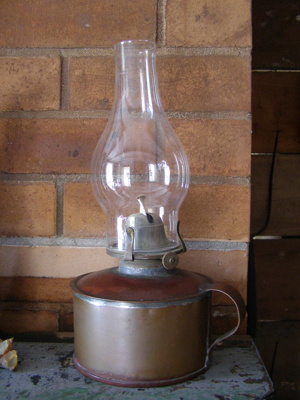 medium size copper lamp