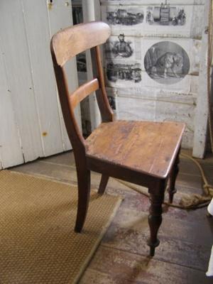 Wooden kitchen chair.