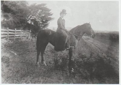 Mrs Amelia Wood on horseback; 2017.368.22
