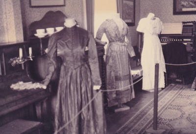 A display of gowns in Puhinui at HHV.; La Roche, Alan; 2019.224.01