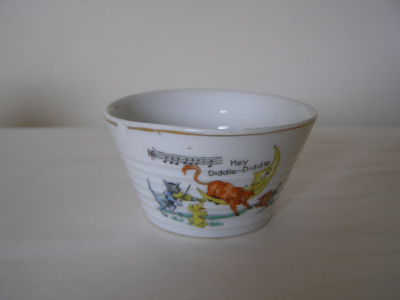 hand painted china sugar bowl
