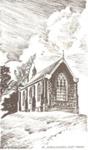Greeting card featuring St John's Church, East Tamaki Road; Unknown; c. 1990; 4225