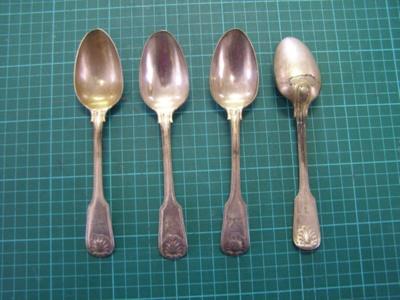 Desert Spoons; 1838-1890; O2015.67.1 to 4