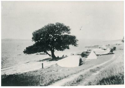 Camping on Maraetai Beach 1934; Grindrod, Albert; 1934; 2017.301.56