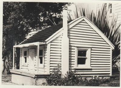 Model cottage in the Garden Of Memories.; La Roche, Alan; 19671; 2019.090.02