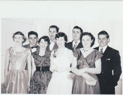 Howick District High School Students at the School Ball,; 1955; 2019.087.08