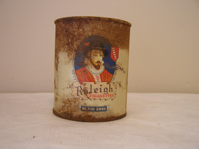 Tobacco/ Cigarette Tin Container with a lid with a...