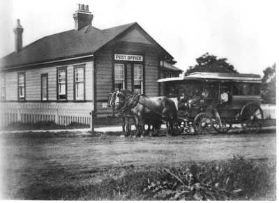 Howick Post Office with Horse Bus parked in front ...