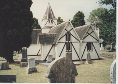 The west face of All Saints Church; Hattaway, Robert; 1988; 2018.210.72