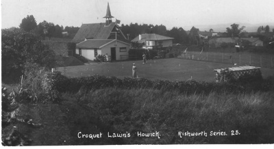 Croquet Lawns in Howick in 1920's - in 2005 this i...