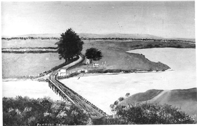 Photographic copy of Panmure Bridge by G. Rawlin...