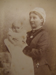 Portrait of Mother and baby.; Fred K. Downer; 1880's; 2011.72.19