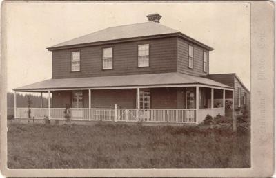 Bell House, Pakuranga, c.1898. Cabinet card printe...