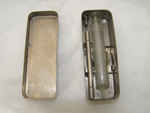 Stainless Steel Syringe Case.; 2011.39.1 A+B+C+D+E+F