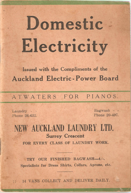 Electric Power Board : Domestic electricity auckland electric power board scott