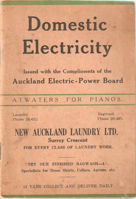 Domestic Electricity; Auckland Electric Power Board; 1934