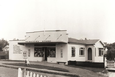 Webster's Store, Selwyn Rd, Howick, 1944. On the w...