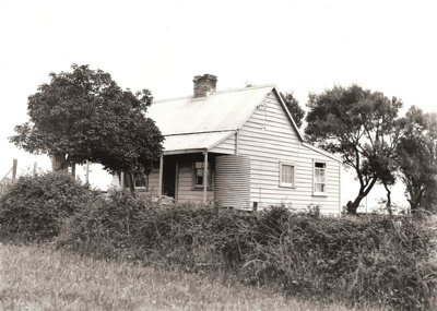 BW photograph of an Old Cottage, Drake St, Howick....